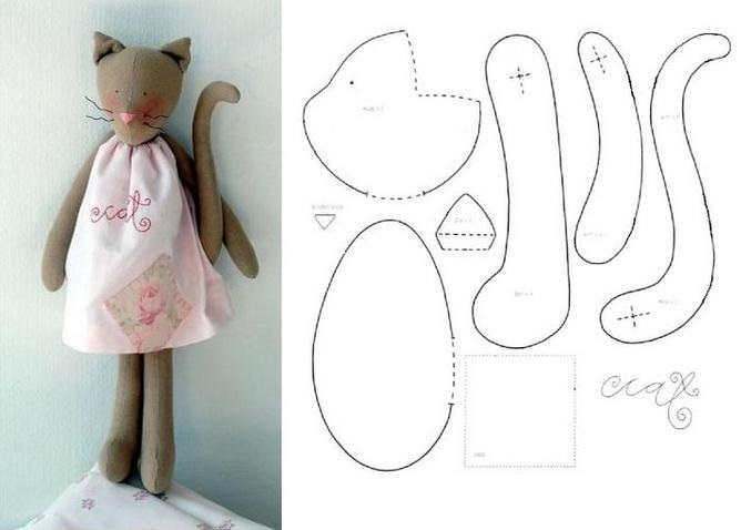 Кот из ткани своими руками выкройки008