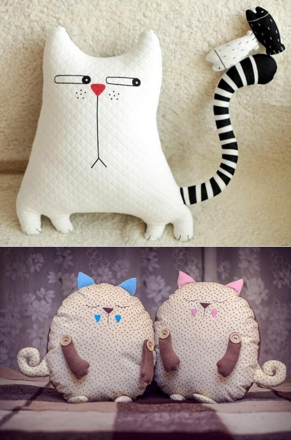Кот из ткани своими руками выкройки010