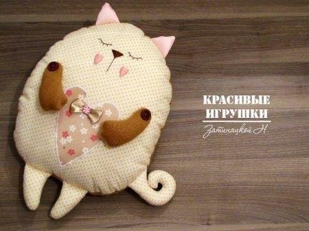 Кот из ткани своими руками выкройки013
