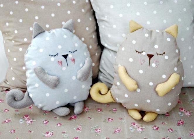 Кот из ткани своими руками выкройки019