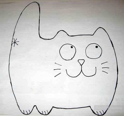 Кот из ткани своими руками выкройки020