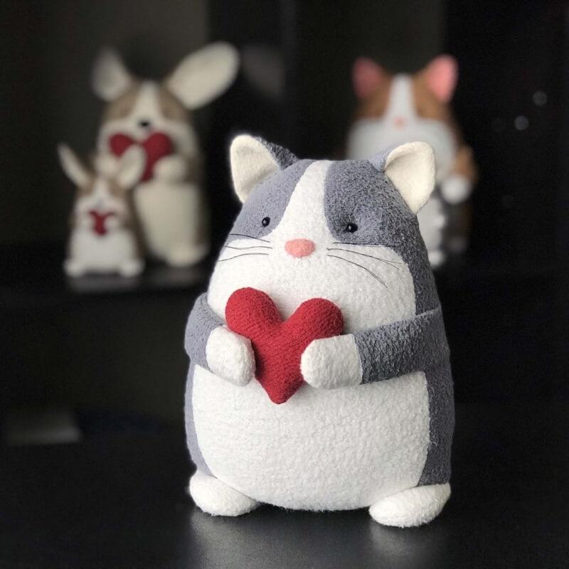 Кот из ткани своими руками выкройки021