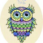 Красивая сова для поделки в картинках