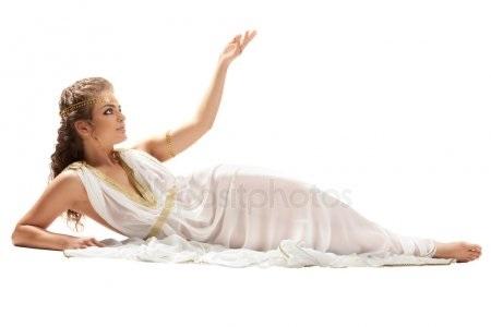 Красивая фотосессия греческая богиня012