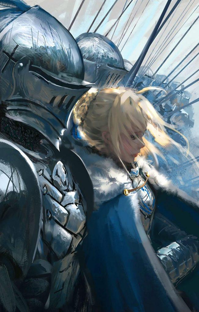 Красивые аниме картинки рыцари001