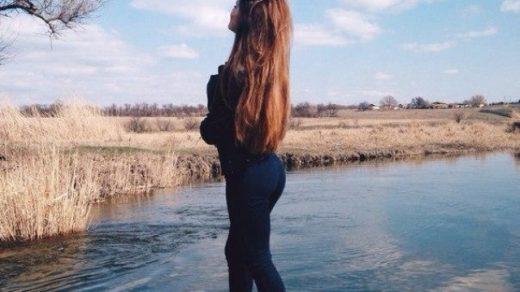 Красивые девушки картинки на аватарку со спины019