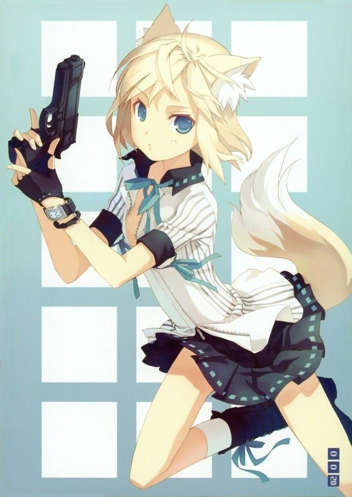Красивые картинки аниме девочки с оружием002