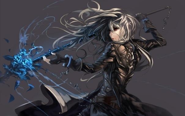 Красивые картинки аниме девочки с оружием015