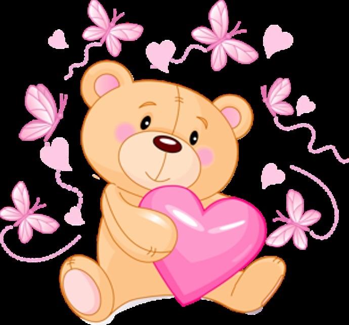 Красивые картинки медвежонок с цветами005