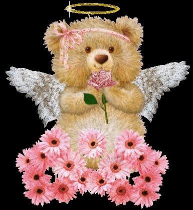 Красивые картинки медвежонок с цветами006