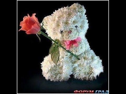 Красивые картинки медвежонок с цветами007