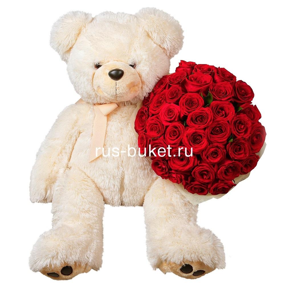 Красивые картинки медвежонок с цветами008