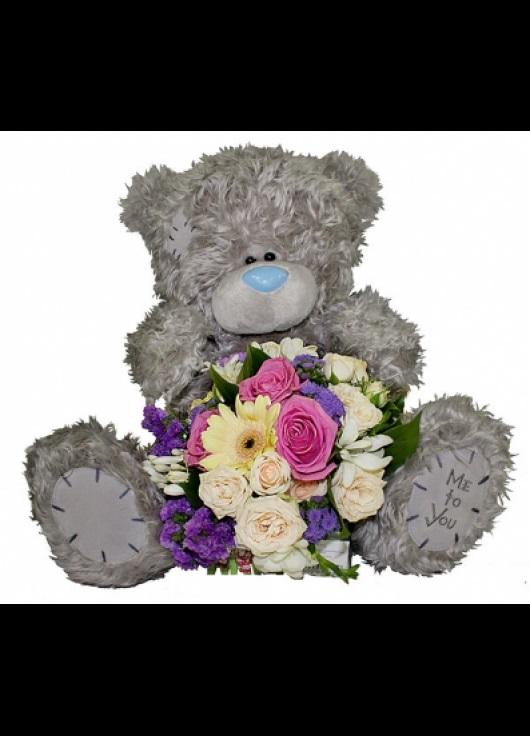 Красивые картинки медвежонок с цветами009