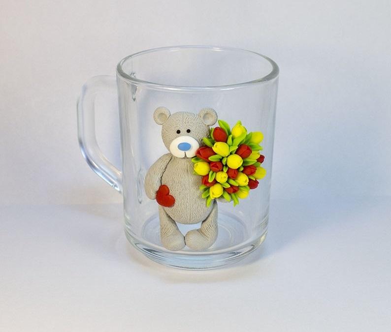 Красивые картинки медвежонок с цветами012