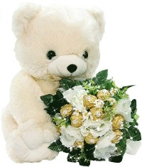Красивые картинки медвежонок с цветами021
