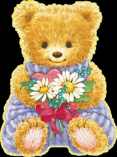 Красивые картинки медвежонок с цветами022