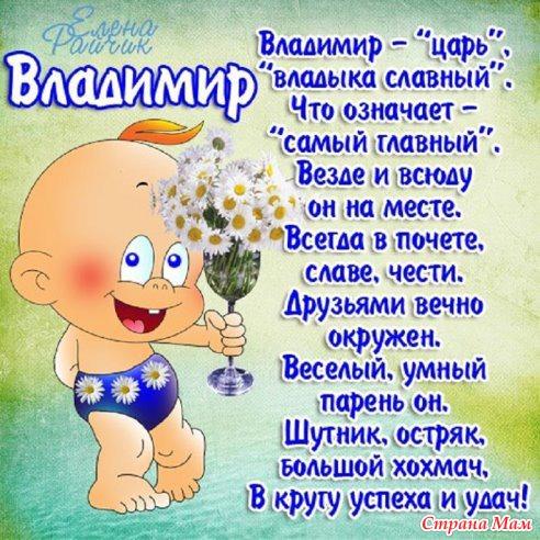 Красивые картинки на именины Владимира - сборка (4)