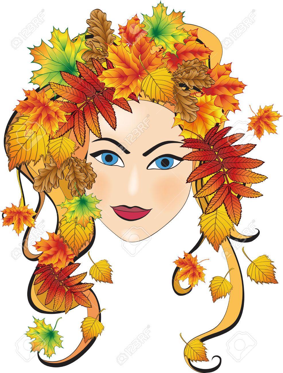 Красивые картинки осень девушка с листьями для детей (12)