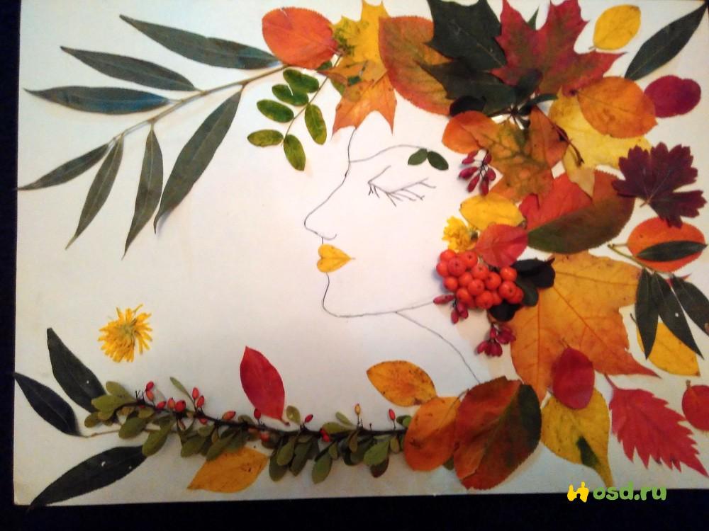Красивые картинки осень девушка с листьями для детей (16)
