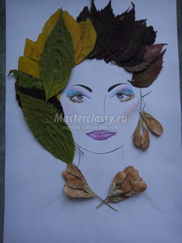 Красивые картинки осень девушка с листьями для детей (17)