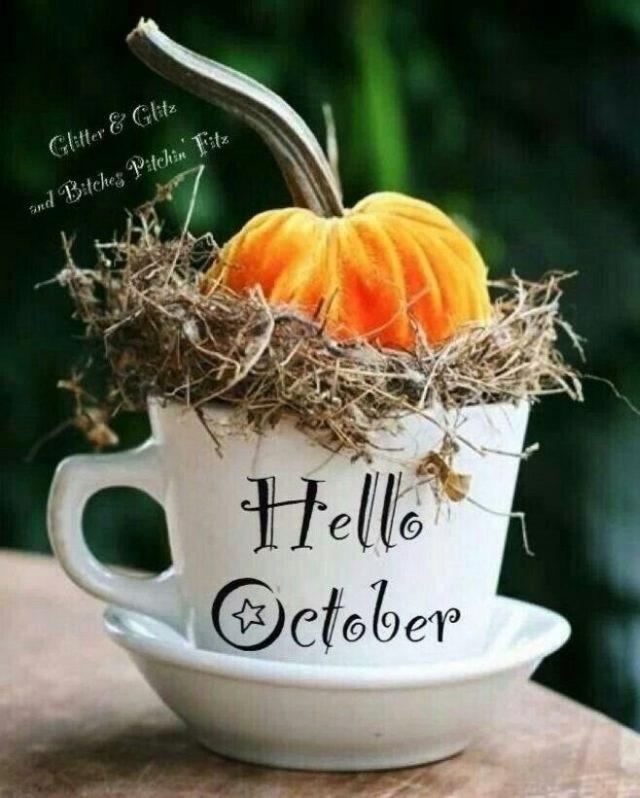 Красивые картинки про октябрь месяц с надписями006