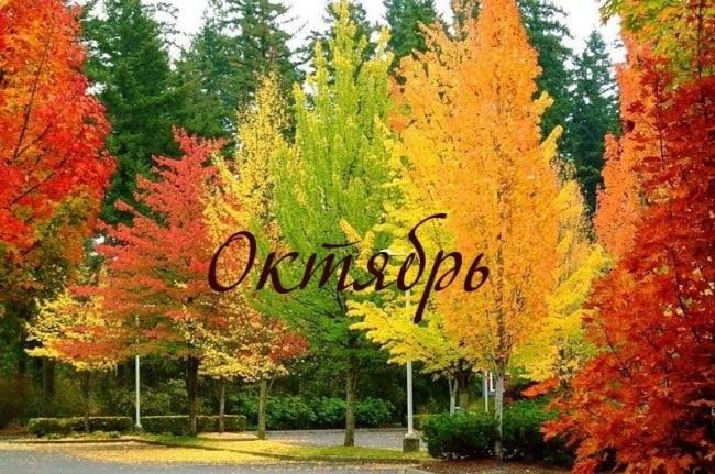 Красивые картинки про октябрь месяц с надписями018