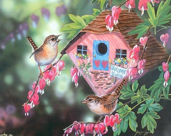 Красивые картинки сказочные птички (11)
