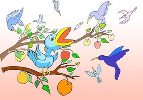 Красивые картинки сказочные птички (2)