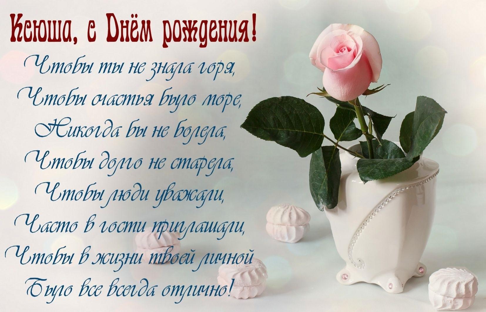 Поздравления с днем рождения ксюшу подругу