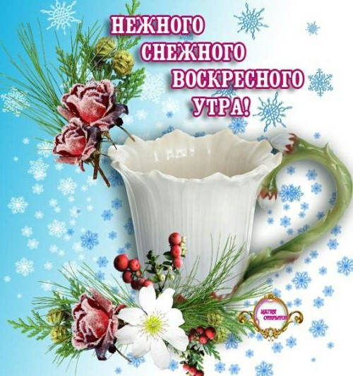 Красивые картинки с добрым утром в воскресенье - 20 открыток (1)