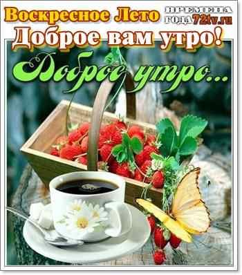 Красивые картинки с добрым утром в воскресенье - 20 открыток (20)