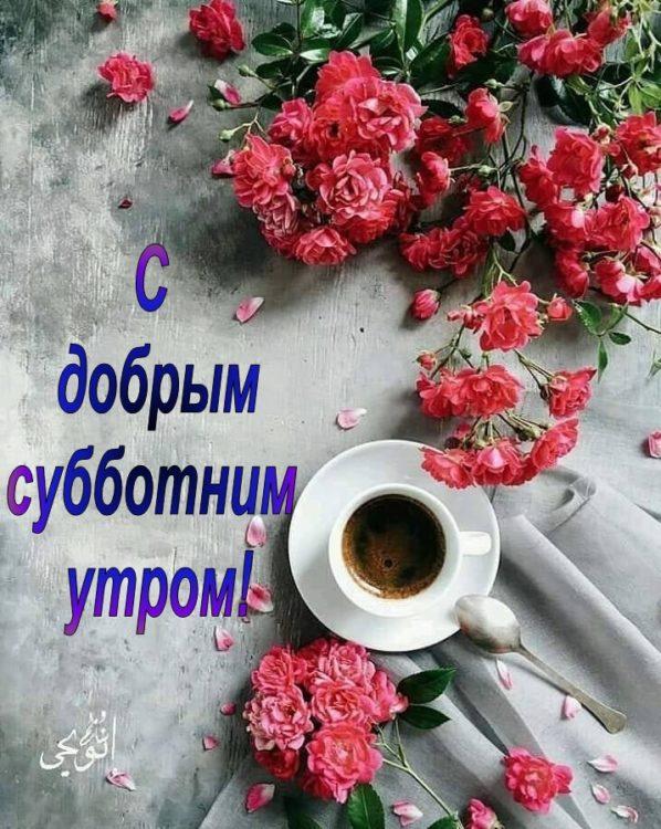 Красивые картинки с добрым утром в субботу - 32 открытки (3)
