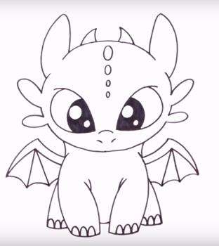 Красивые картины дракона карандашом (1)