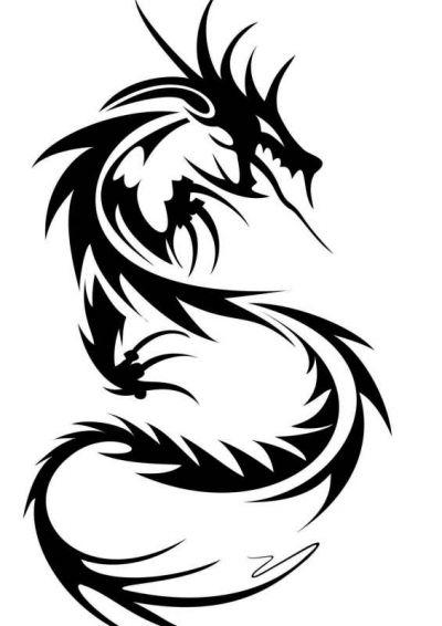 Красивые картины дракона карандашом (11)