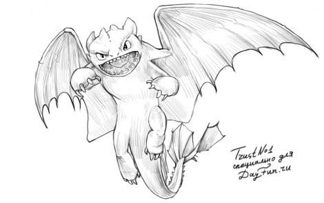 Красивые картины дракона карандашом (12)