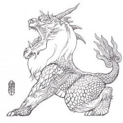 Красивые картины дракона карандашом (15)