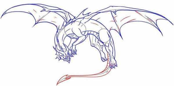 Красивые картины дракона карандашом (18)