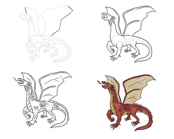 Красивые картины дракона карандашом (2)