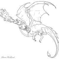 Красивые картины дракона карандашом (22)