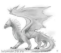 Красивые картины дракона карандашом (23)