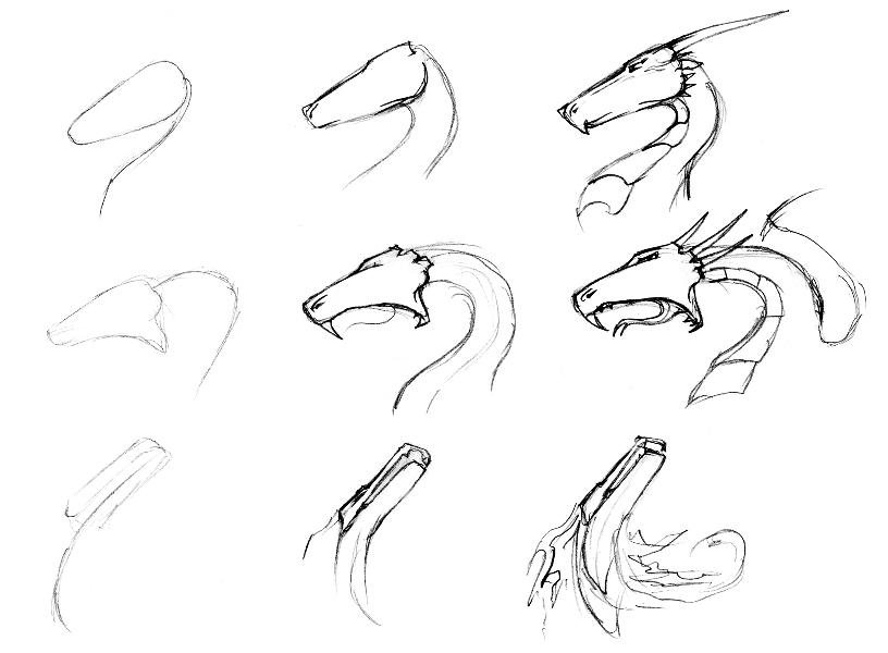 Красивые картины дракона карандашом (28)