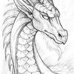 Красивые картины дракона карандашом
