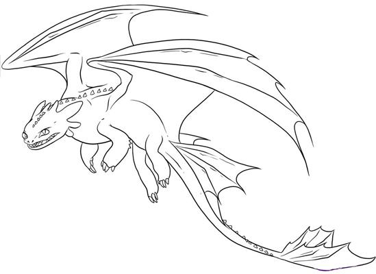 Красивые картины дракона карандашом (32)