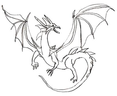 Красивые картины дракона карандашом (6)