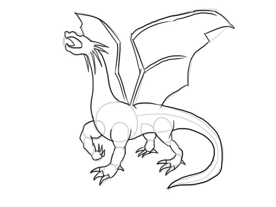 Красивые картины дракона карандашом (8)