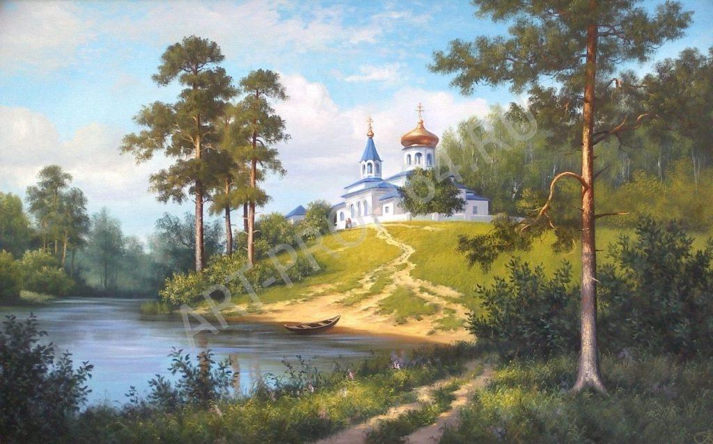 Красивые картины церковь осенью012