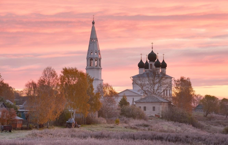 Красивые картины церковь осенью014