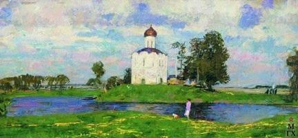 Красивые картины церковь осенью016
