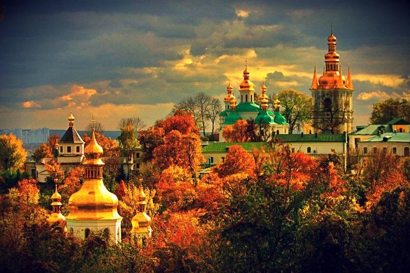 Красивые картины церковь осенью021