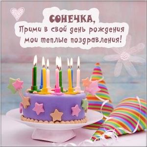Красивые открытки для Сони с днем рождения016